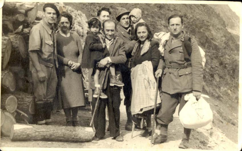 France, Refugees in the Alps, Escorted by Italian Soldiers