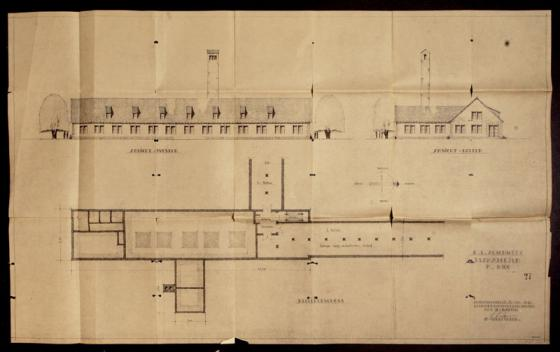 One of the blueprints that will be given to Yad Vashem today.