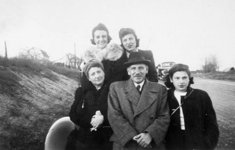 The Lang family, who escaped Vienna after the Anschluss, on their arrival in the United States