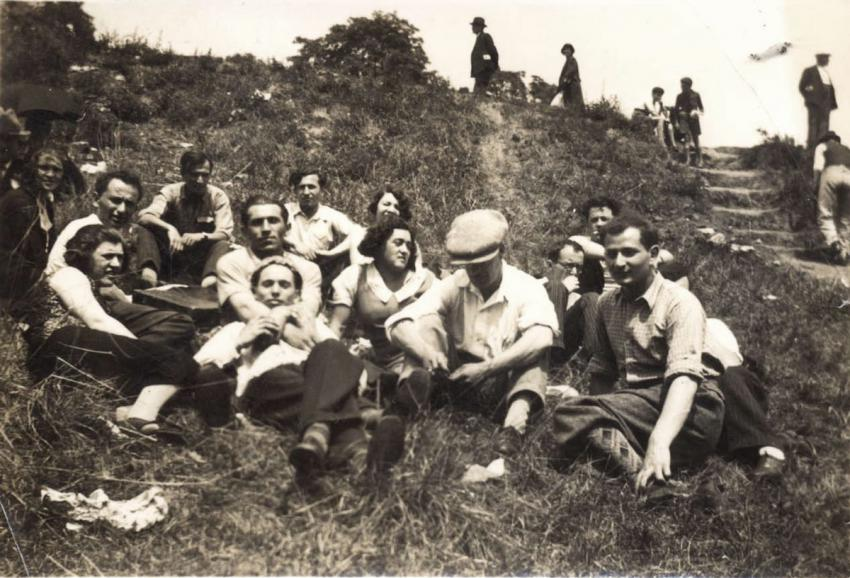 Jews deported from Germany to Zbaszyn, Poland, living on a farm outside of Bialystok, August 1939