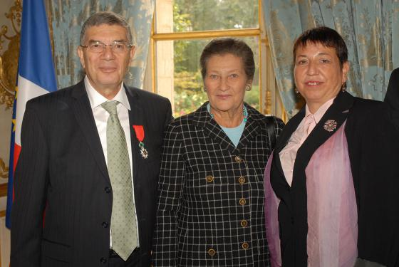 From left to right: Avner Shalev, Simone Veil Miry Gross