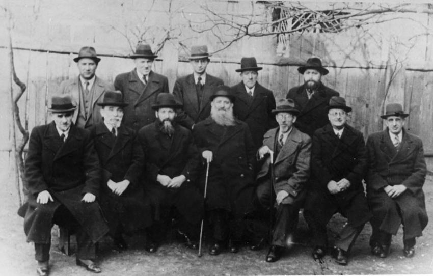 Refugee rabbis in Zbaszyn, Poland, March 1939