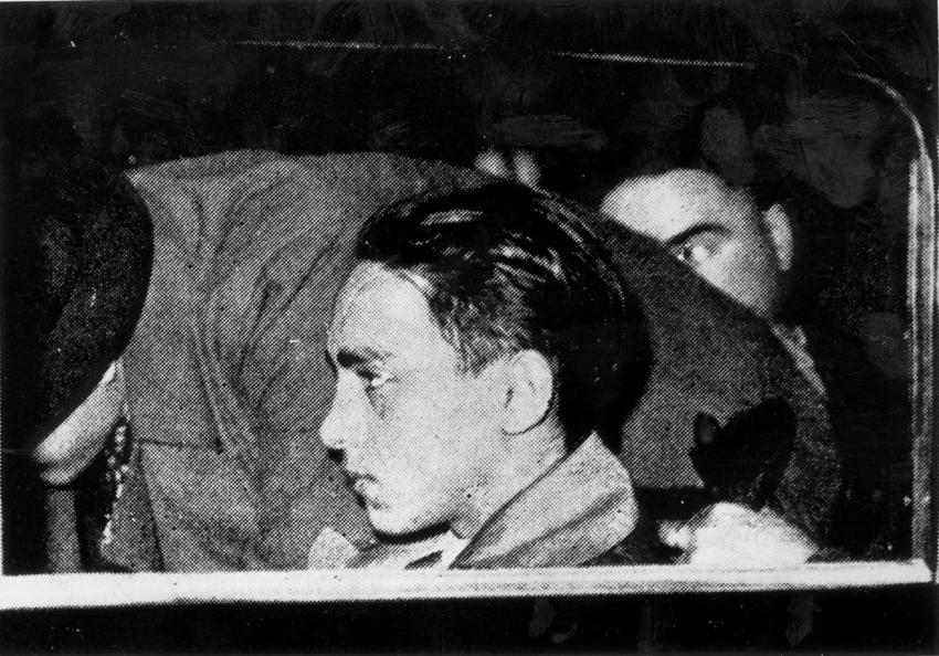 Herschel Grynszpan under arrest in Paris, France, November 1938