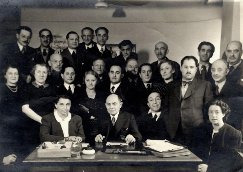 A Zionist gathering in Bendzin, Poland, December 20, 1940