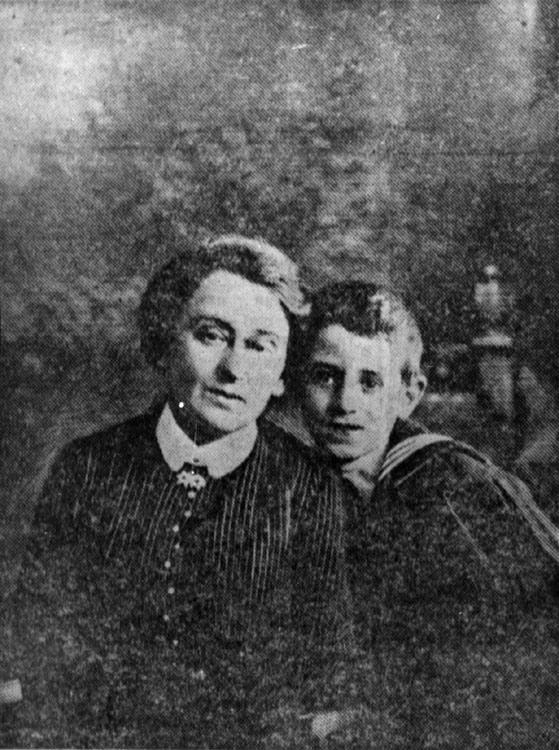 Young Vasily Grossman with his mother