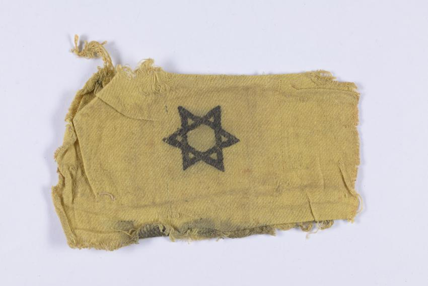 Jewish badge (Armband) that belonged to Willy Weiss from Niš, Serbia.