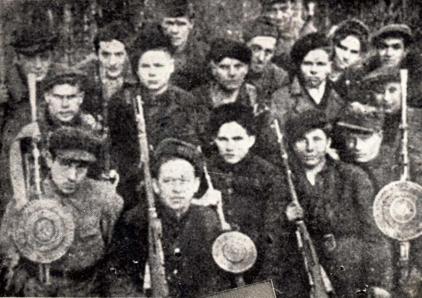 "The ""Lenin"" Partisan Brigade, active in the Zhetl region, Poland, during WWII. Yad Vashem Archives"