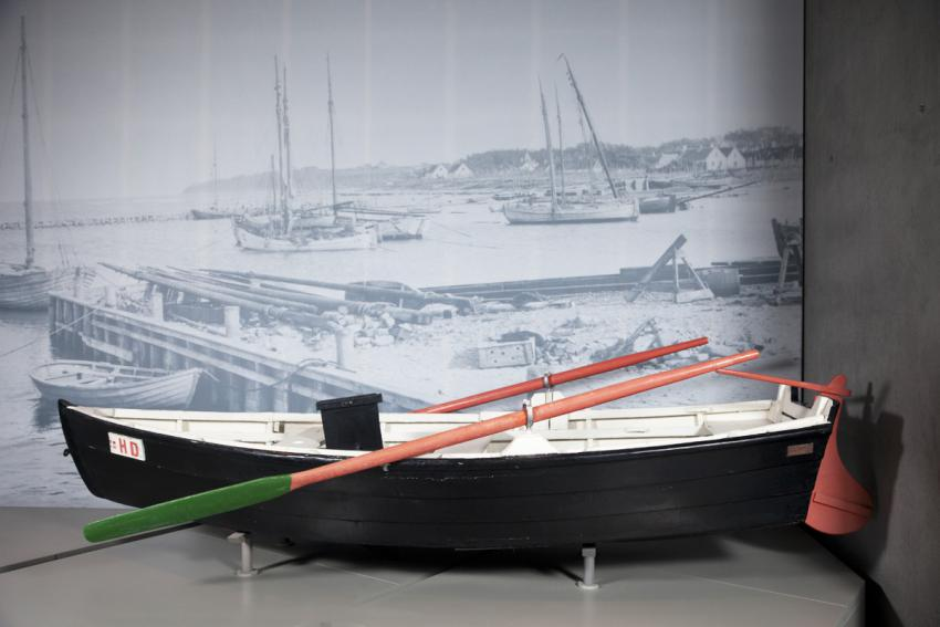 The boat of Gilbert Lassen, a fisherman from the village of Gilleleje, Denmark, used to smuggle Jews to Sweden in October 1943