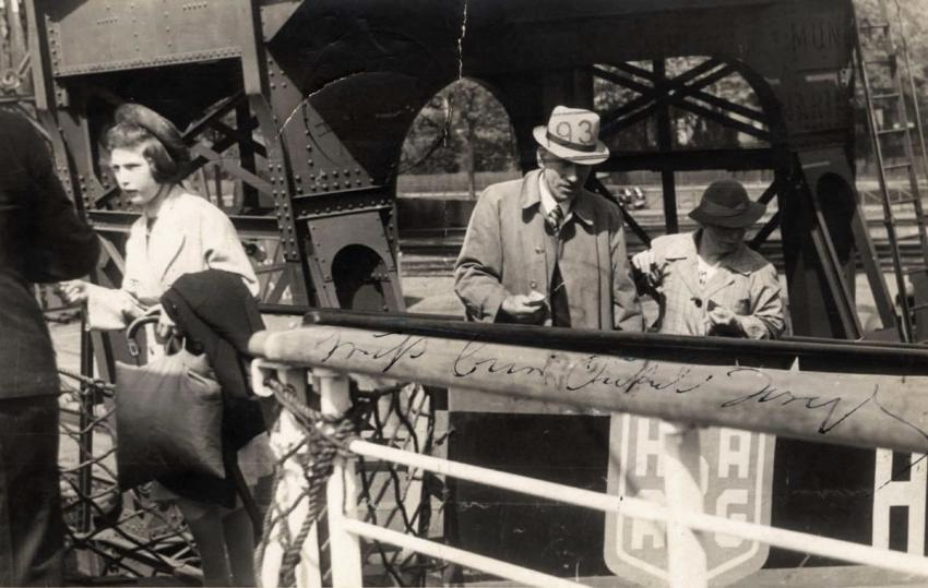May 13, 1939 - Joseph and Betti Kaufherr and their daughter Hannelore board the St. Louis bound for Havanna, May 13, 1939