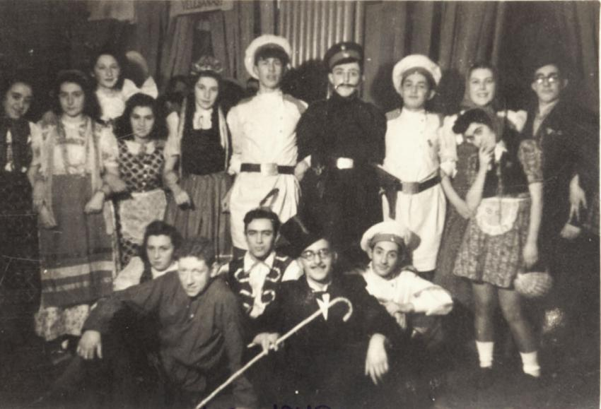 A costume party marking the new year of 1941 in Riga, Latvia, December 31, 1940