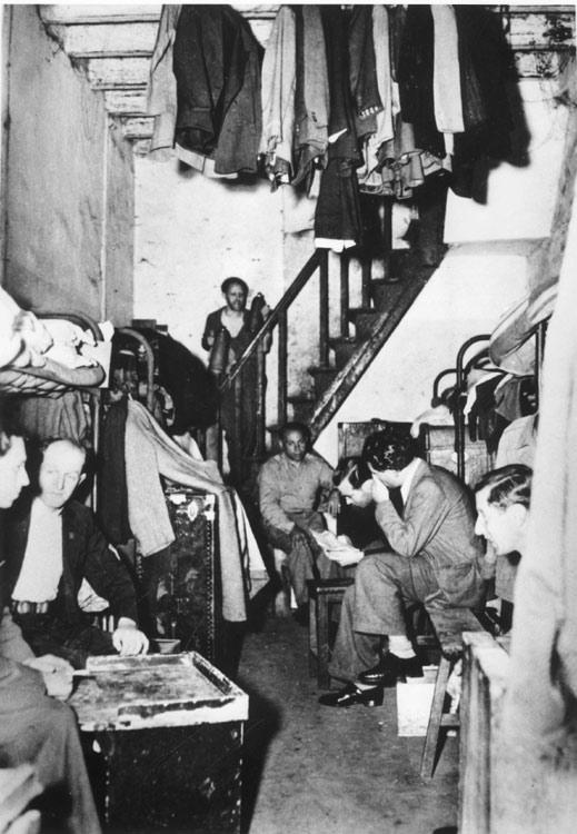 Jewish Refugees from Europe in one of the 'Houses' Established in Shanghai in the Early 1940's