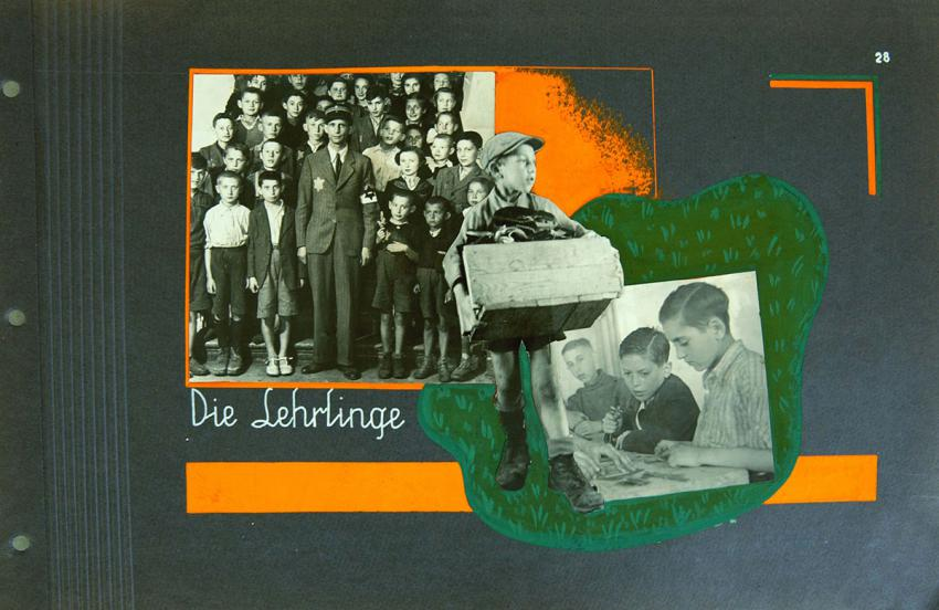 A page from a photo album from the Lodz ghetto