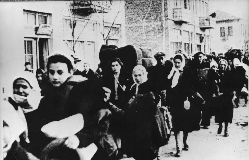 Jews being deported from Macedonia to the Treblinka Death Camp, March 1943