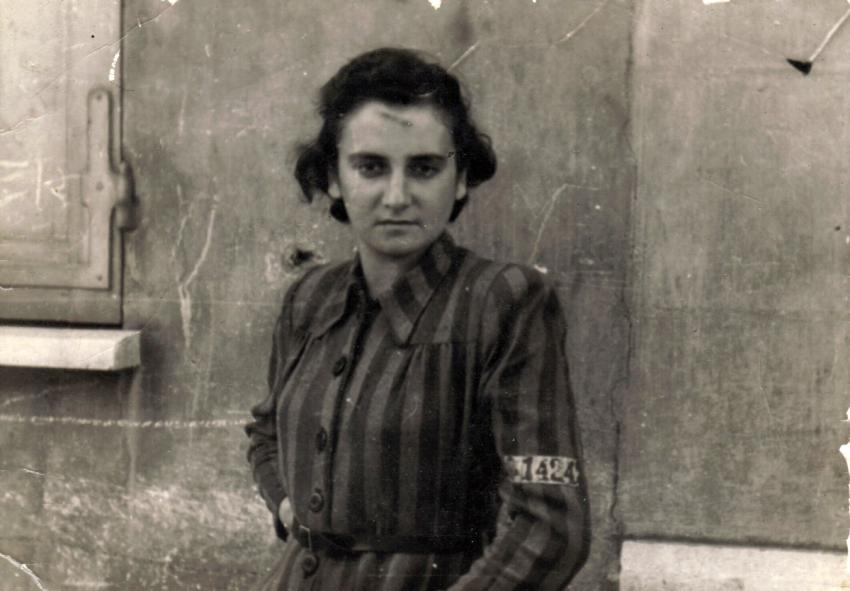 Ruth Bensinger after liberation from the labor camps and death march