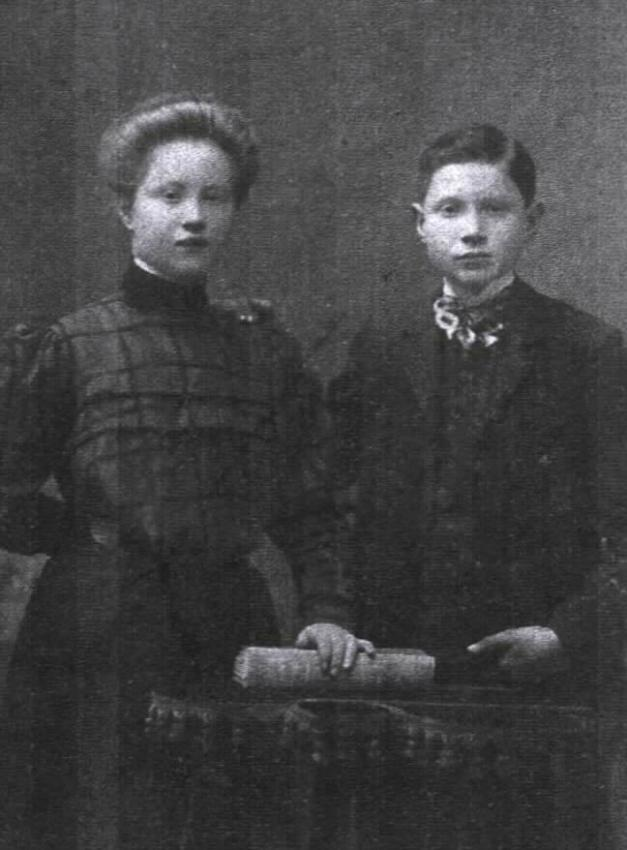 Mira's mother, Elka with her brother Leibl-Louis