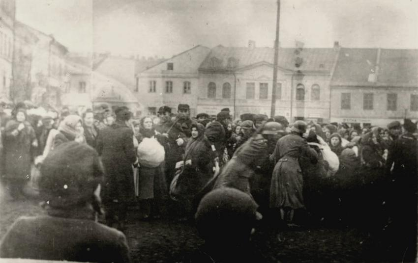 Jews from Lublin, Poland, prior to their deportation, March 1941