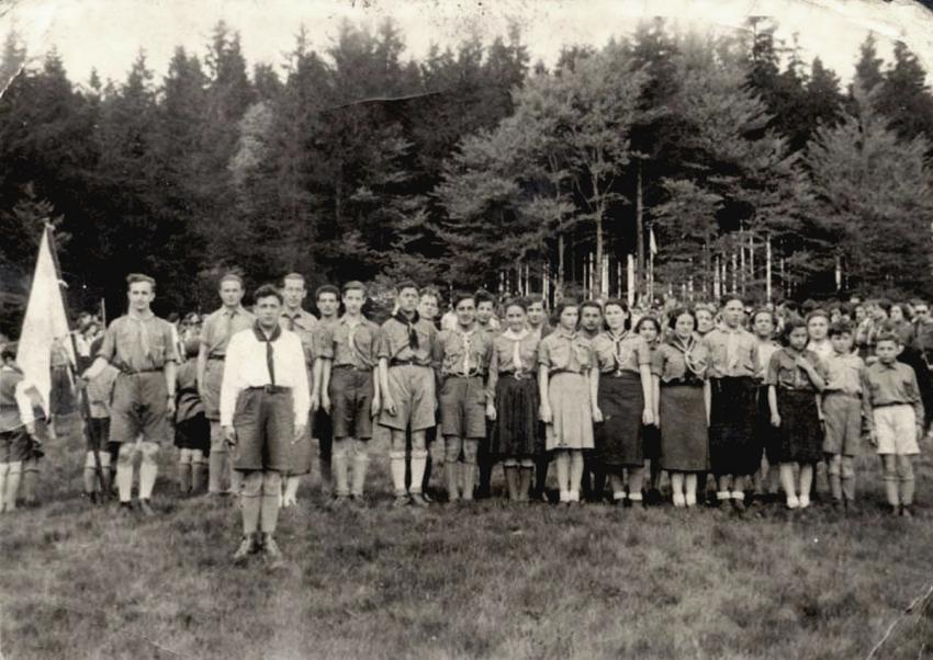 A gathering of members of the Hashomer Ha'tzair movement in Wieliczka, Poland, May 18,1939