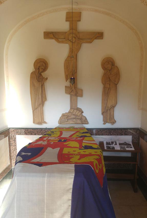 Princess Alice's grave in the crypt of the church of  Mary Magdalene, Mount Olives, Jerusalem