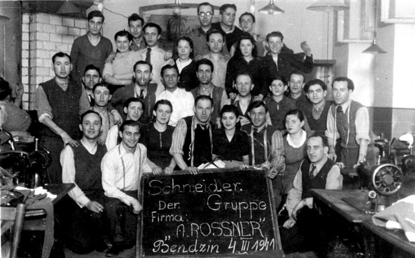 Tailors in Bendzin, Poland, who supplied uniforms to the German army, March 1941