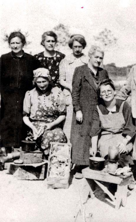 A group of German Jewish women in the Gurs prison camp, France, April 1941