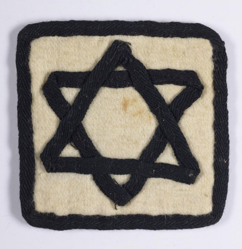Jewish badge that belonged to Medea Schneller-Brener from Iasi, Romania.