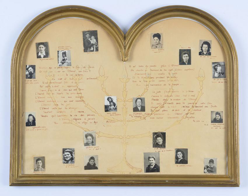 Memento made after the war with photographs of the staff at the children's home in Chamonix and activists in the underground