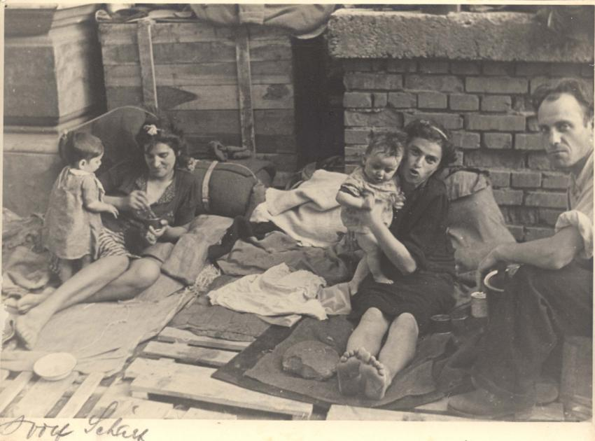 Mothers and Babies on the Journey to Palestine, Location Unknown
