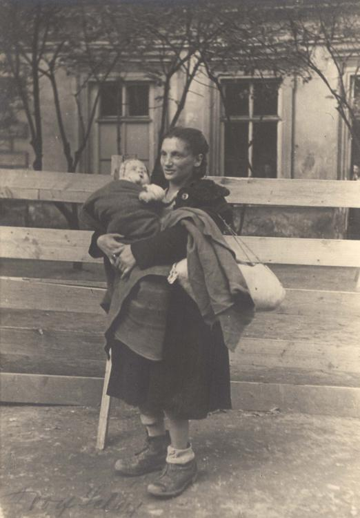 The Bericha - Woman Holding a Baby, Location Unknown