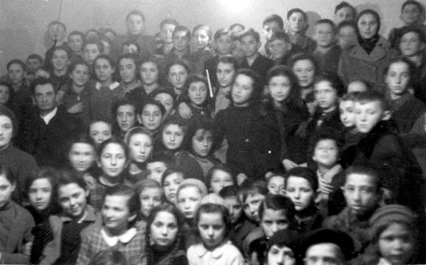 Group photograph of children from Bochnia, Poland, February 1941