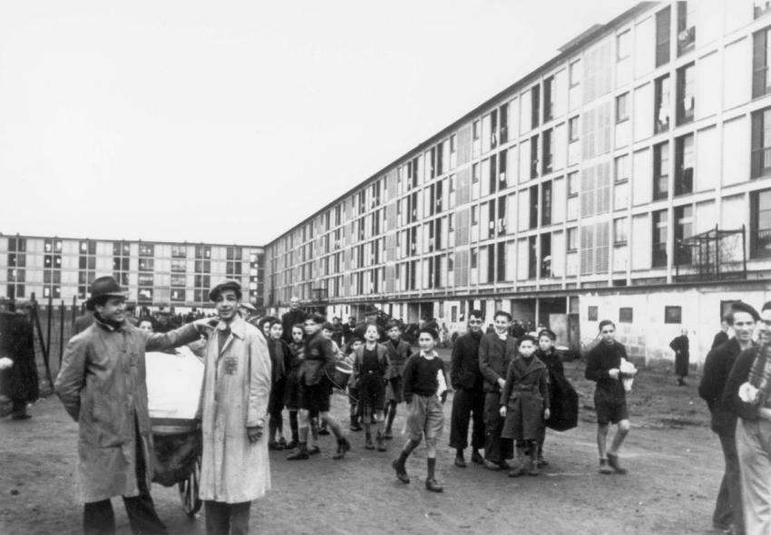 Jews in the Drancy assembly and detention camp in France, December 3, 1942