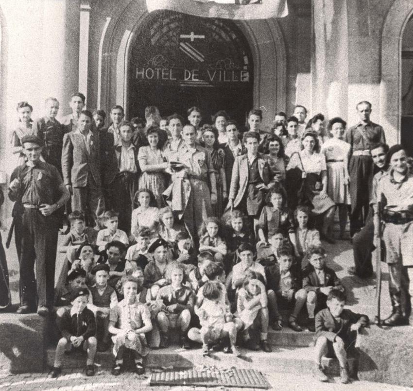 Annemasse, France, 18/08/1944, a group of children who survived thanks to Marianne Cohn and Myla Racine