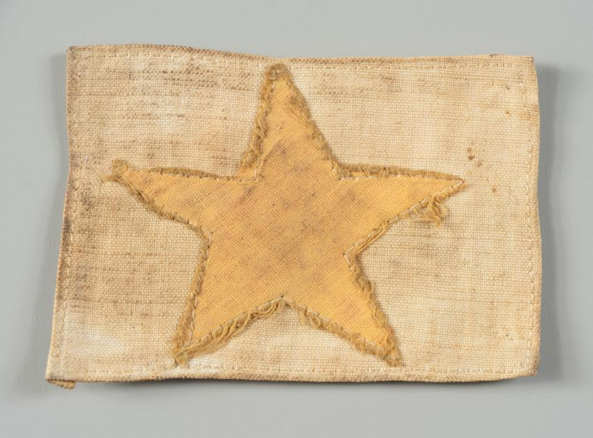 Jewish badge that belonged to Israel Emil Ichay from the city of Sousse, Tunisia.