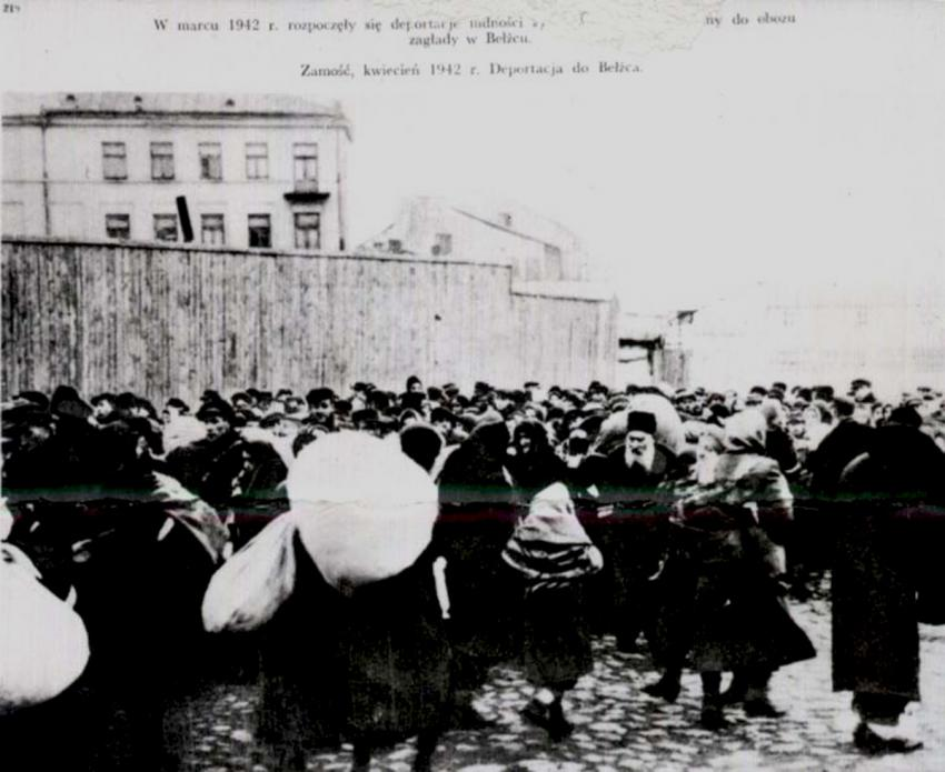 Deportation of Jews from Zamosc, Poland to the Belzec death camp, April 1942
