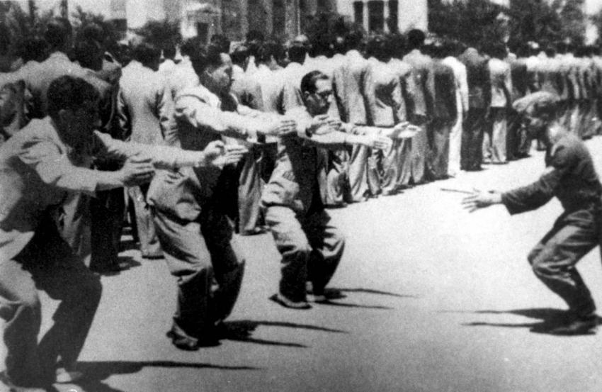 Jews being terrorized by Nazis in Salonika, Greece, July 11, 1942