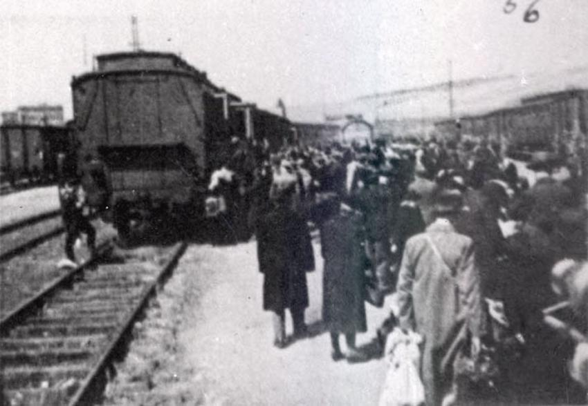 Deportation of Jews from Wuerzburg, Germany, November 27, 1941