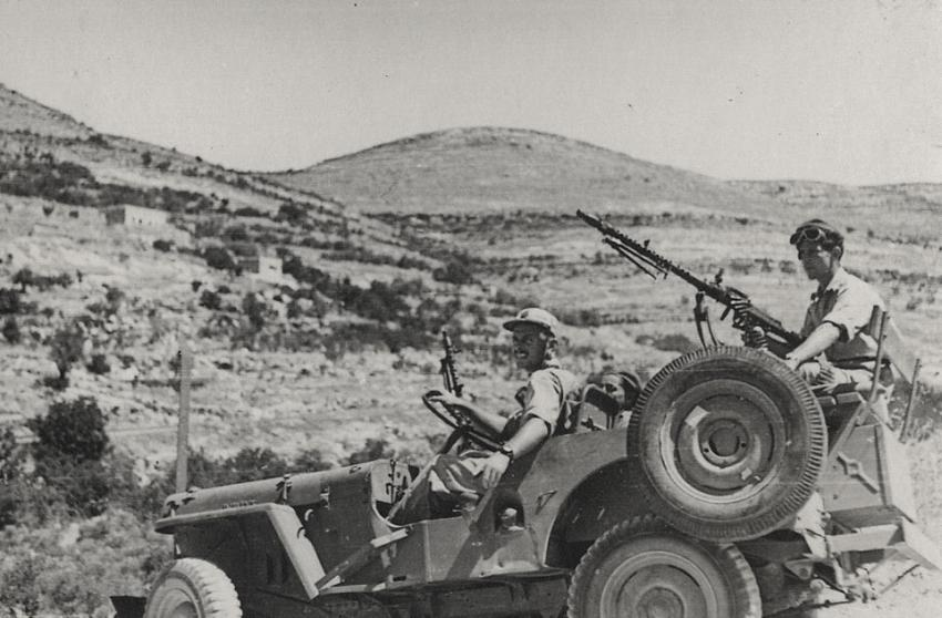 "Shmuel Daich as a driver in ""Shualei Shimshon"" during Israel's War of Independence"
