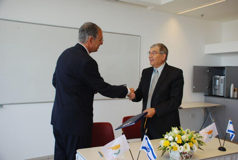 At the signing of the Memorandum of Understanding, which promotes teacher training in Holocaust education for Cypriot educators
