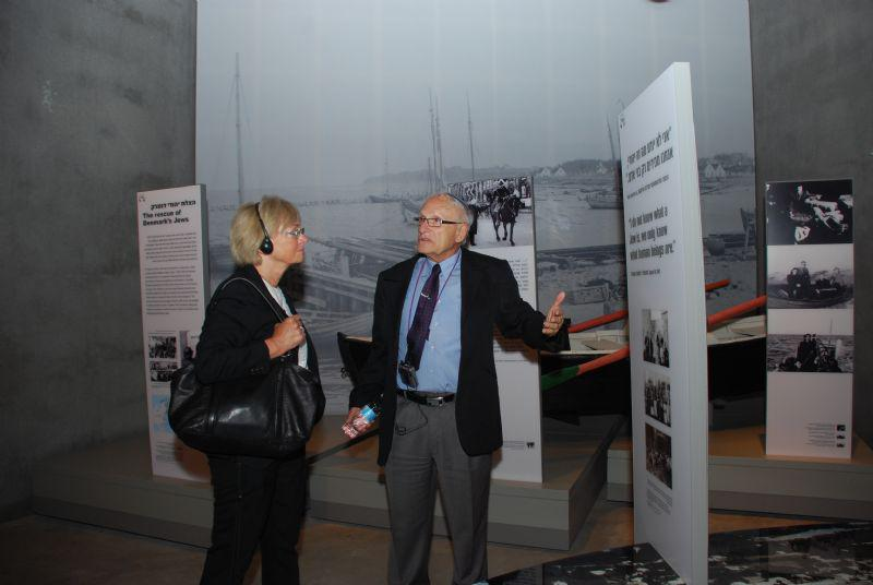 In the Holocaust History Museum, at the exhibit dedicated to the rescue of Denmark's Jews by boat in October 1943