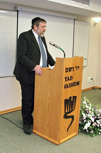 Rabbi Michael Melchior MK, Chairman of the Education, Culture and Sport Committee in the Knesset