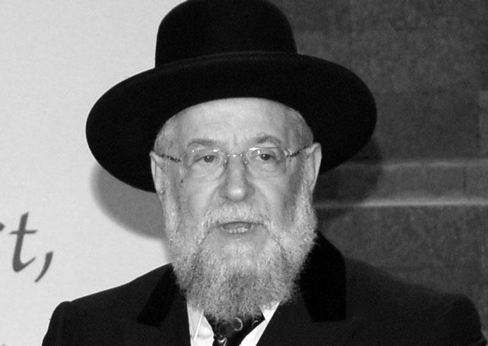 Address on Behalf of the Survivors, by Rabbi Israel Meir Lau