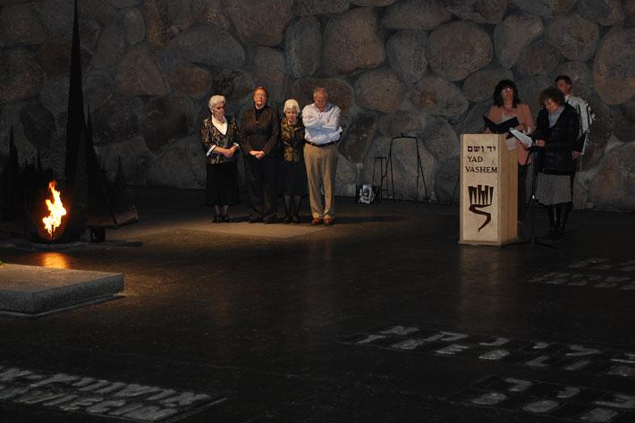 Memorial service in the Yad Vashem Hall of Remembrance