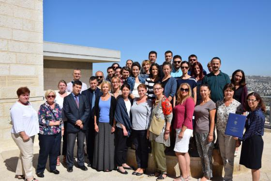 •	Dr. Eyal Kaminka and Dr. Aleksandar Pajic together with Serbian teachers participating in an educational seminar at Yad Vashem's International School for Holocaust Studies