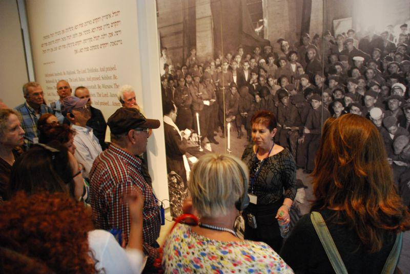Participants in the event tour the Holocaust History Museum