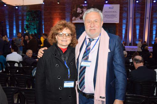 Carolyn and Andre Bollag of Switzerland attending the State Opening Ceremony for Holocaust Martyrs' and Heroes' Remembrance Day, 2016.