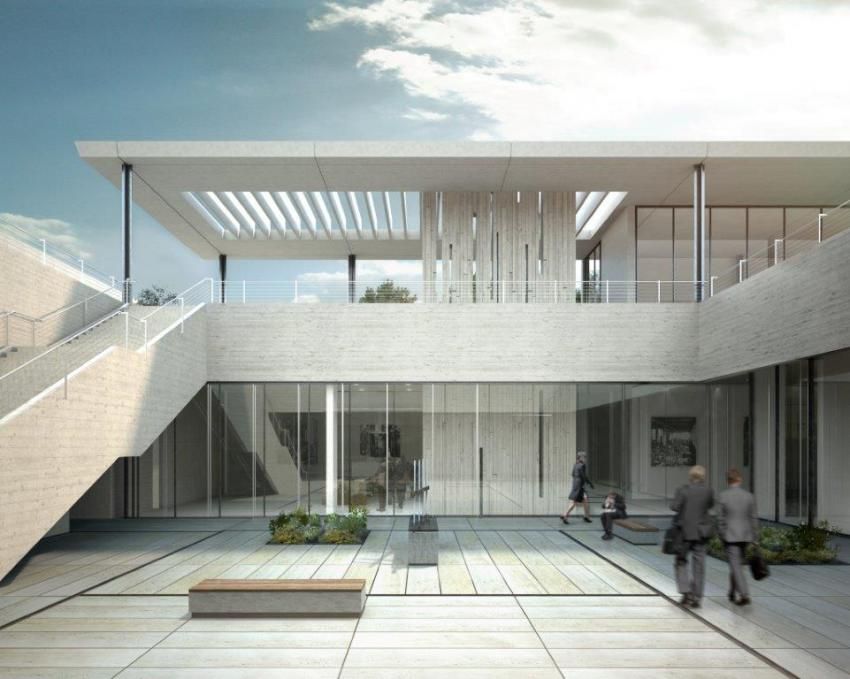 Artistic rendering of the Shoah Heritage Collections Center