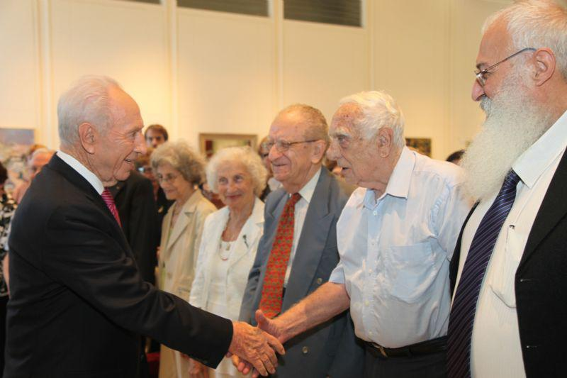 President Shimon Peres meeting members of the Commission for the Designation of the Righteous