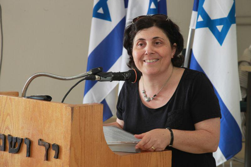 Director of the International Institute for Holocaust Research Dr. Iael Nidam-Orvieto spoke at the ceremony
