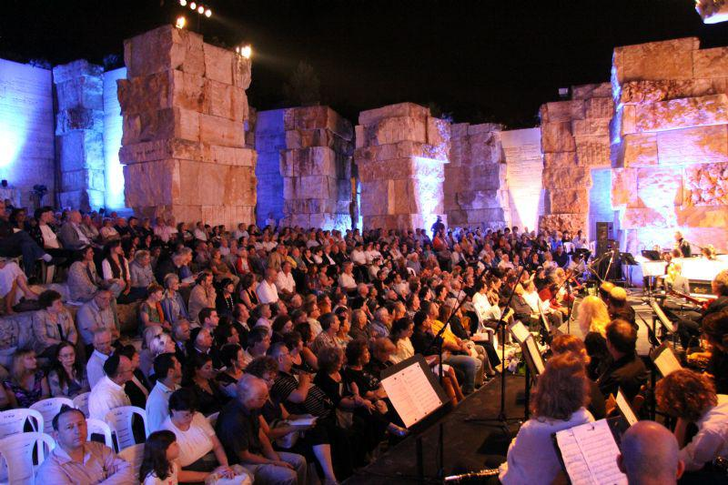 """The """"Mashiv Haruach"""" concert in the Valley of the Communities at Yad Vashem"""