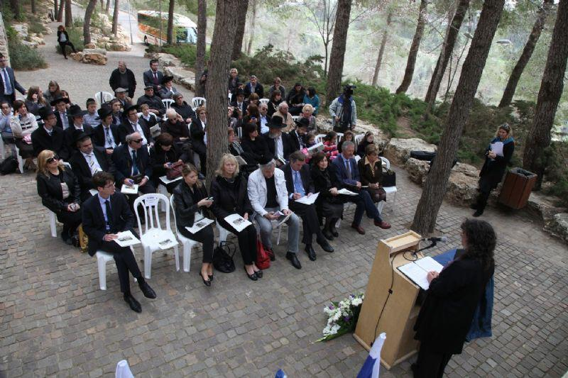 Ceremony in honor of Jeanne Albouy, Garden of the Righteous, Yad Vashem, 4 March 2013