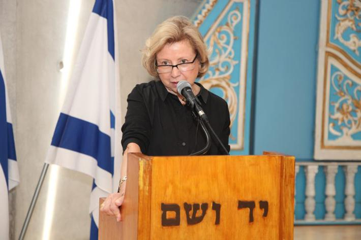 Colette Avital, the Chairperson of the Center Organizations of Holocaust Survivors in Israel
